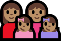 Family - Woman: Medium Skin Tone, Woman: Medium Skin Tone, Girl: Medium Skin Tone, Girl: Medium Skin Tone on Microsoft Windows 10 Fall Creators Update