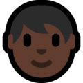 Adult: Dark Skin Tone on Microsoft Windows 10 April 2018 Update