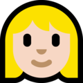 Blond-Haired Woman: Light Skin Tone on Microsoft Windows 10 April 2018 Update