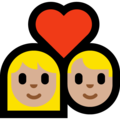Couple With Heart, Type-3 on Microsoft Windows 10 April 2018 Update