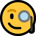 Face With Monocle on Microsoft Windows 10 April 2018 Update