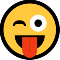 Winking Face With Tongue on Microsoft Windows 10 April 2018 Update