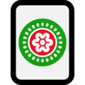 Mahjong Tile One of Circles on Microsoft Windows 10 April 2018 Update