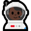 Man Astronaut: Dark Skin Tone on Microsoft Windows 10 April 2018 Update
