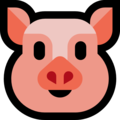 Pig Face on Microsoft Windows 10 April 2018 Update