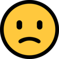 Slightly Frowning Face on Microsoft Windows 10 April 2018 Update
