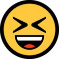 Grinning Squinting Face on Microsoft Windows 10 April 2018 Update