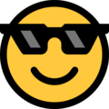 Smiling Face With Sunglasses on Microsoft Windows 10 April 2018 Update