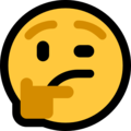Thinking Face on Microsoft Windows 10 April 2018 Update