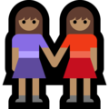 Two Women Holding Hands, Type-4 on Microsoft Windows 10 April 2018 Update