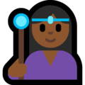Woman Mage: Medium-Dark Skin Tone on Microsoft Windows 10 April 2018 Update