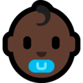 Baby: Dark Skin Tone on Microsoft Windows 10 October 2018 Update