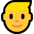 Man: Blond Hair on Microsoft Windows 10 October 2018 Update