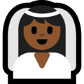 Bride With Veil: Medium-Dark Skin Tone on Microsoft Windows 10 October 2018 Update