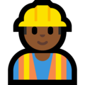 Construction Worker: Medium-Dark Skin Tone on Microsoft Windows 10 October 2018 Update