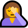 Person Facepalming on Microsoft Windows 10 October 2018 Update