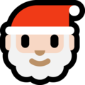 Santa Claus: Light Skin Tone on Microsoft Windows 10 October 2018 Update