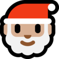Santa Claus: Medium-Light Skin Tone on Microsoft Windows 10 October 2018 Update
