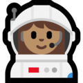 Woman Astronaut: Medium Skin Tone on Microsoft Windows 10 October 2018 Update