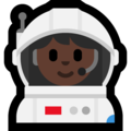 Woman Astronaut: Dark Skin Tone on Microsoft Windows 10 October 2018 Update