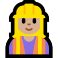 Woman Construction Worker: Medium-Light Skin Tone on Microsoft Windows 10 October 2018 Update