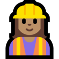 Woman Construction Worker: Medium Skin Tone on Microsoft Windows 10 October 2018 Update