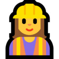 Woman Construction Worker on Microsoft Windows 10 October 2018 Update