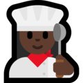 Woman Cook: Dark Skin Tone on Microsoft Windows 10 October 2018 Update