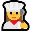 Woman Cook on Microsoft Windows 10 October 2018 Update