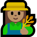 Woman Farmer: Medium Skin Tone on Microsoft Windows 10 October 2018 Update