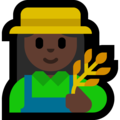 Woman Farmer: Dark Skin Tone on Microsoft Windows 10 October 2018 Update