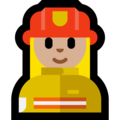 Woman Firefighter: Medium-Light Skin Tone on Microsoft Windows 10 October 2018 Update