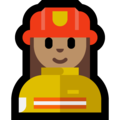 Woman Firefighter: Medium Skin Tone on Microsoft Windows 10 October 2018 Update
