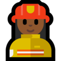 Woman Firefighter: Medium-Dark Skin Tone on Microsoft Windows 10 October 2018 Update