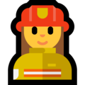 Woman Firefighter on Microsoft Windows 10 October 2018 Update