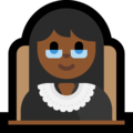 Woman Judge: Medium-Dark Skin Tone on Microsoft Windows 10 October 2018 Update