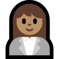 Woman Office Worker: Medium Skin Tone on Microsoft Windows 10 October 2018 Update