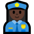 Woman Police Officer: Dark Skin Tone on Microsoft Windows 10 October 2018 Update