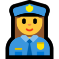 Woman Police Officer on Microsoft Windows 10 October 2018 Update
