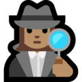 Woman Detective: Medium Skin Tone on Microsoft Windows 10 October 2018 Update
