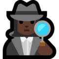 Woman Detective: Dark Skin Tone on Microsoft Windows 10 October 2018 Update