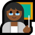 Woman Teacher: Medium-Dark Skin Tone on Microsoft Windows 10 October 2018 Update