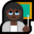 Woman Teacher: Dark Skin Tone on Microsoft Windows 10 October 2018 Update