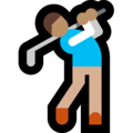 Person Golfing: Medium Skin Tone on Microsoft Windows 10 October 2018 Update
