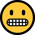 Grimacing Face on Microsoft Windows 10 October 2018 Update