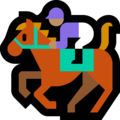 Horse Racing: Medium Skin Tone on Microsoft Windows 10 October 2018 Update