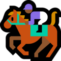 Horse Racing: Medium-Dark Skin Tone on Microsoft Windows 10 October 2018 Update