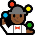 Person Juggling: Medium-Dark Skin Tone on Microsoft Windows 10 October 2018 Update