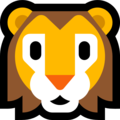 Lion Face on Microsoft Windows 10 October 2018 Update