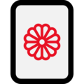 Mahjong Tile Chrysanthemum on Microsoft Windows 10 October 2018 Update